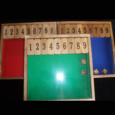"Shut the Box Game #1-9 size 9x9"" 3 colors avail - select one of color choice"