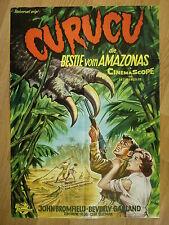 CURUCU - BEAST OF THE AMAZON scarce German 1-sheet poster 1956  SCI-FI - HORROR