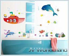 New Nemo Ocean Wall Stickers sea kids removable Vinyl Art Decor Fish Mermaid DIY