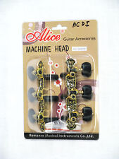 ALICE Machine heads deluxe Classical Guitar tuners GEARS tuning KEYS- BLACK GOLD