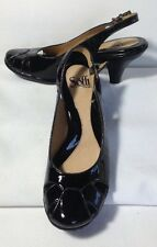 New! Sofft Black Patent Leather Slingback Pumps Size 6 M