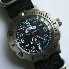 Russische Uhr. Automatik. VOSTOK. Komandirskie K-35. 24 H. 100 m.