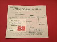 Arthur Walker & Co Ltd Nottingham 1948 Canned Goods Dried Fruit receipt R35278