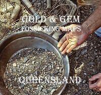 CD - GOLD & GEM FOSSICKING MAPS IN QUEENSLAND (CD Copy)