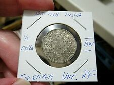 Gorgeous 1945 British India Silver Half Rupee UNC. Coin