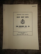 1943 ORDNANCE FIELD SERVICE MANUAL M1917A1 MG CAL .30 - REPRINT