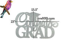 Graduation Banner-Congrats Grad Glitter Foam Banner. XL.
