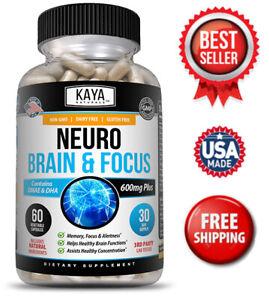 Neuro Brain & Focus 60ct, Healthy Memory Function, Clarity Nootropic Supplement