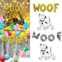 WOOF Letter Self-inflating Foil Balloons Set Pet Dog Birthday Theme Party Decor