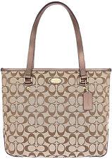 NWT $275 Coach Signature Zip Top Tote Brown Hobo Shoulder Handbag Purse NEW