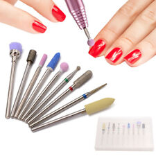 "9Pcs Nail Drill Bits Set 3/32"" Cuticle Clean Electric Manicure and Pedicure kit"