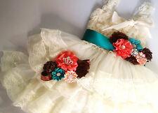 girl dress sash flower girl birthday outfit tea party girl dress