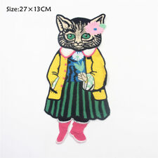 Fancy Cat Head Patch Iron On Embroidered Patches Applique Sew on Patch