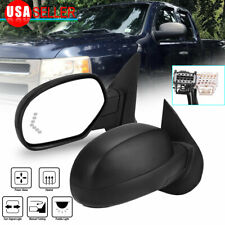 Pair Tow Mirrors Fit For 2007-2013 Chevy Silverado Sierra Power Heated Signal