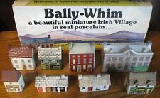 Vintage Bally-Whim Wade Porcelain Miniature Irish Village Set in Box 8 Houses
