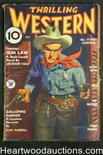 Thrilling Western Jul 1934 Signed on cover by cover artist R. G. Harris