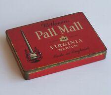 VINTAGE ROTHMANS LTD LONDON PALL MALL VIRGINIA MEDIUM METAL CIGARETTE TIN CASE