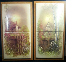 Tile MuraL Backsplash Sangray Vintage Ceramic Decor Art Country Cottage Cabin