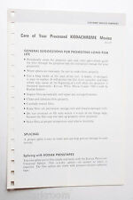 Kodak 1969 AD-29 Care for Processed Kodachrome Info Guide - English USED B20