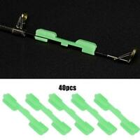 40 PCS Light Stick Clip Night Fishing Fluorescent Glow Stick Holder for Rod Tip