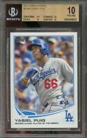 2013 topps update #us46 YASIEL PUIG los angeles dodgers rookie (PRISTINE) BGS 10