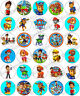 30 x Paw Patrol Fun Party Edible Rice Wafer Paper Cupcake Toppers