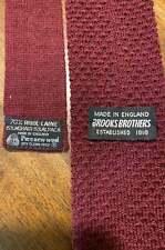 Brooks Brothers Mens Designer Dress Suit Necktie Maroon Wool Square End Tie