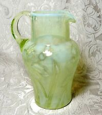 Uranium Vaseline Glass Lemonade Pitcher Richardson? c1900