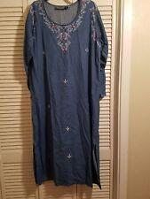 Long Sleeved Jean Dress Sz L