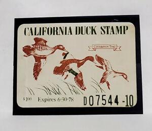 1977 California State Duck Migratory Waterfowl Stamp ($1.00)