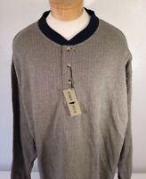Robert Stock Men's Blue/Gold Long Sleeve Shirt Size L