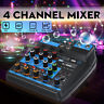 4 Channel Professional Audio Mixer Mixing Console USB bluetooth Music Stereo