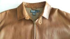 SO SOFT! Mens $895 Polo Ralph Lauren Brown Leather Jacket Coat Blazer Shirt XL