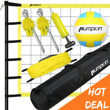 Heavy Duty Poles Outdoor Beach Volleyball Set Net Rope System Bag Official Size