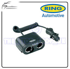 Ring RMS2 Car Van Caravan 12v Cigarette Lighter Twin 2 Way Socket Multi Adaptor