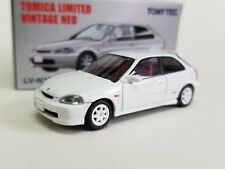 1:64 Tomica Limited LV-N158a Honda Civic EK9 Type R 97 White Tomytec kyosho tomy