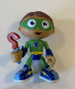 "SUPER WHY Figure Wyatt 6"" Rare Action Doll SPINNING WAND Posable PBS Kids 2009"