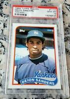 DEION SANDERS 1989 Topps TIFFANY RARE SP Rookie Card RC PSA 10 Yankees $$ HOF $$
