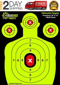 100 x Shooting Targets Reactive Splatter Range Paper Target Gun Shoot Rifle Glow