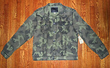 $368 TRUE RELIGION MQUR62LX8 ARMY GREEN CAMOUFLAGE JEAN STYLE JIMMY JACKET 3XL