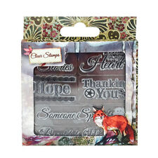 "Santoro willow ""sentiments's clear stamp set"