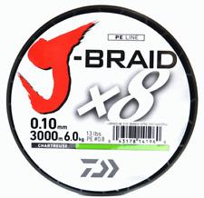 Daiwa J-braid X8 Chartreuse 1500m 0.10mm