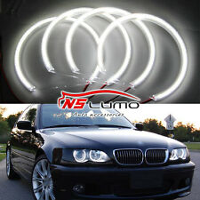 BMW E46 3 Series Non-HID Halogen Headlight SMD Led Angel Eyes Halo Ring Kit Lamp