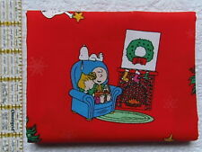 NEW & HTF Peanuts Snoopy Holiday CHRISTMAS MORNING *100% Cotton FQ*