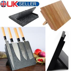 Magnetic Bamboo Knife Holder | Kitchen Organisation | Cutlery Set Storage Blocks