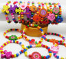 Wholesale 12pcs Kids Wood Lovely Bracelets Birthday Party Gift Christmas Jewelry