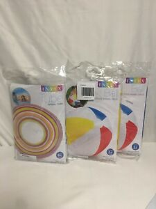 2 Intex Beach Balls And 1 Intex Tube Spiral Tube New In Packages
