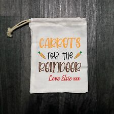 Personalised Reindeer Food Carrot Bags - Christmas Eve Box