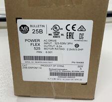 2019/2020 New Sealed A-B PowerFlex 525 2.2kW (3Hp) AC Drive 25B-D6P0N114