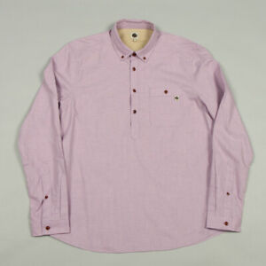 Pretty Green Brixham Overhead Shirt S8GMU54909573 - Pink